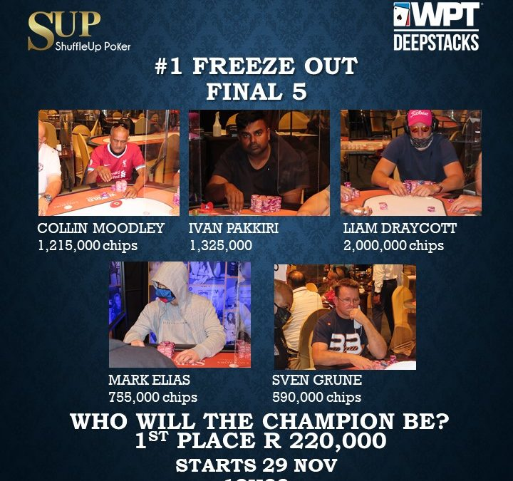 WPT Deepstacks Freeze-Out resumes today @ 12h00