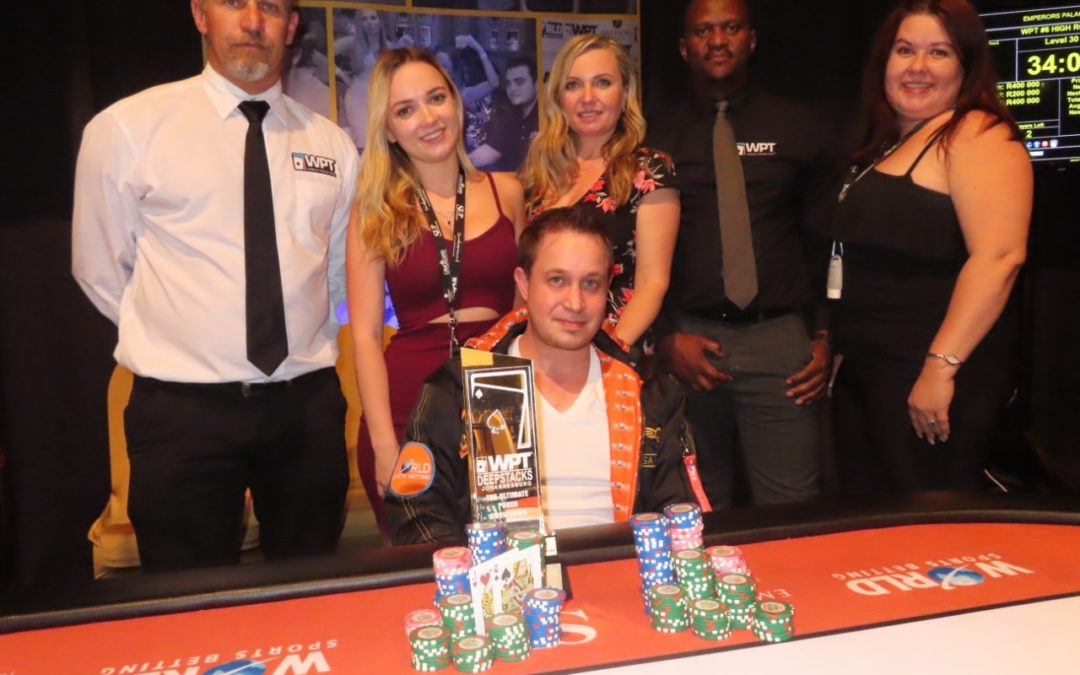Congratulations to David Rosenthal on Winning in the WPT Deepstacks High Roller!!!