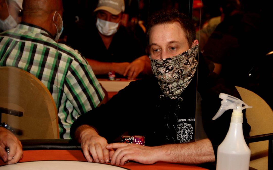 DAVID ROSENTHAL DOUBLES UP TO BECOME CHIP LEADER